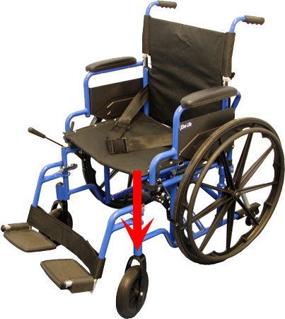Wheelchair Caster Load Image